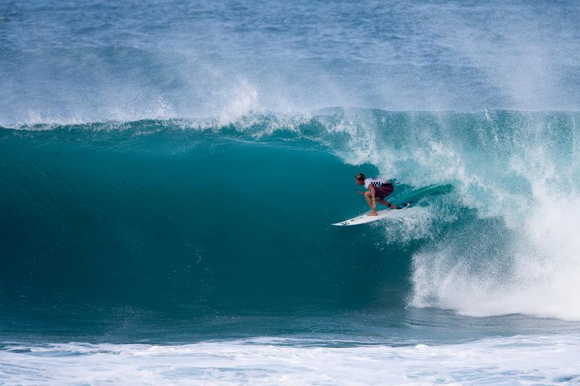 Big Waves Hold For Second Day Of HIC Pro, Competition Heats as Top Names Advance