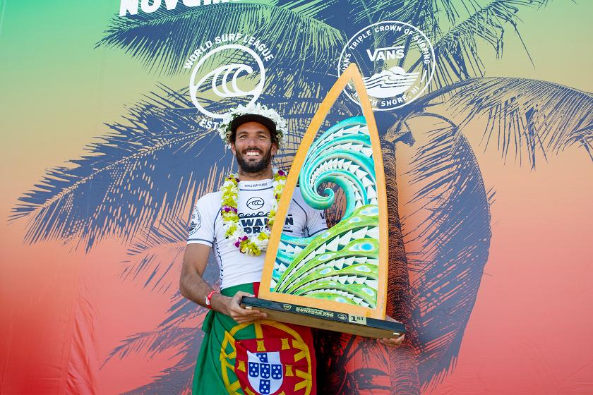 Frederico Morais Wins Hawaiian Pro, Qualifies for 2020 Championship Tour