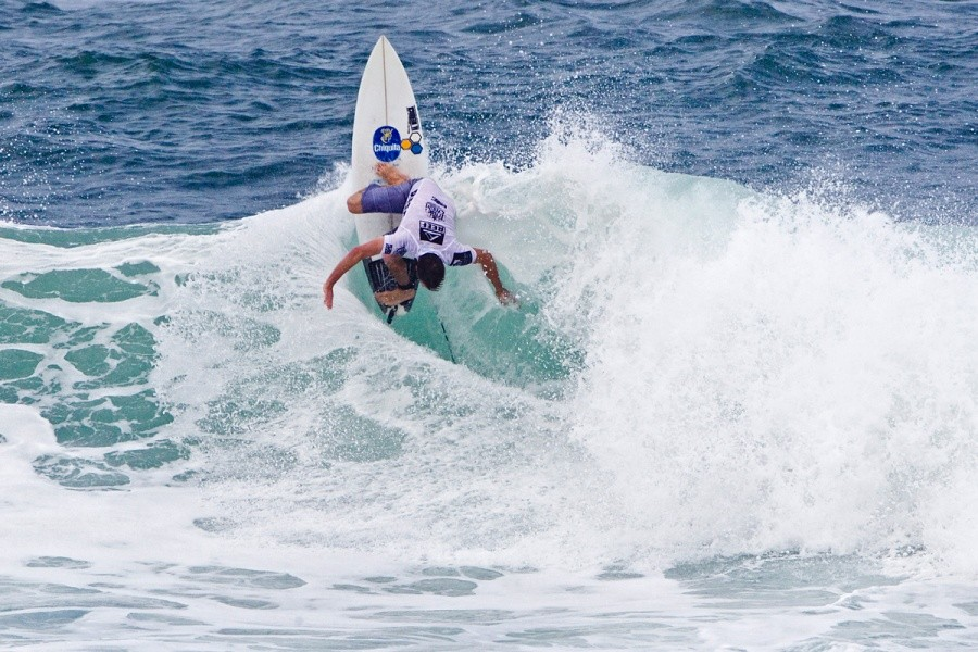 Cory Arrambide (USA) placed second in his round of 128 heat and will advance into the next round.   © ASP / Rowland