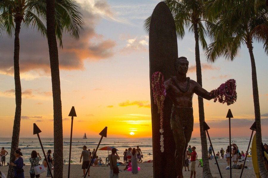 Sunset at Waikiki.   © ASP / Kirstin