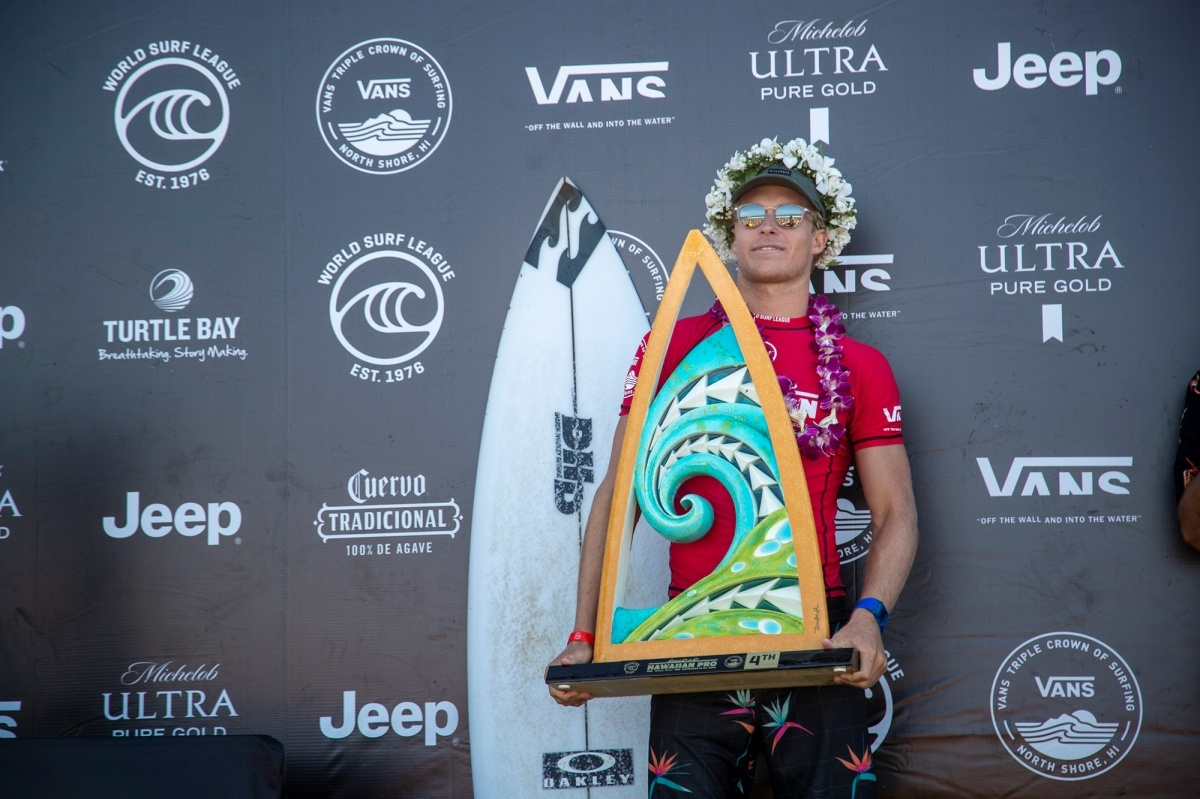 Hawaiian Pro 4th place, Ethan Ewing.   © WSL / Heff