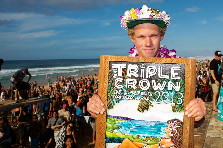 John John Florence of Oahu, Hawaii (pictured) placed runner up to 11X ASP World Champion Kelly Slater (USA) during the Final of the Billabong Pipe Masters in Memory of Andy Irons at Pipeline on Saturday December 14, 2013.   © ASP / Kirstin