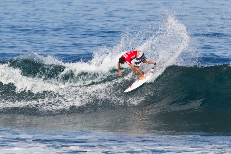 Jeremy Flores (FRA) advanced into the round of 32.   © ASP / Rowland