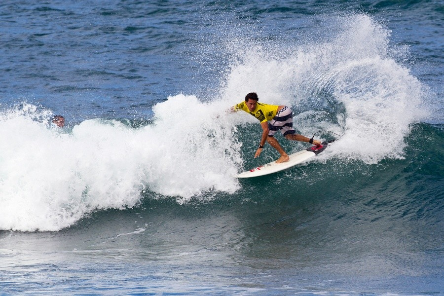 Jeremy Flores (FRA) advanced into the quarters today.   © ASP / Rowland
