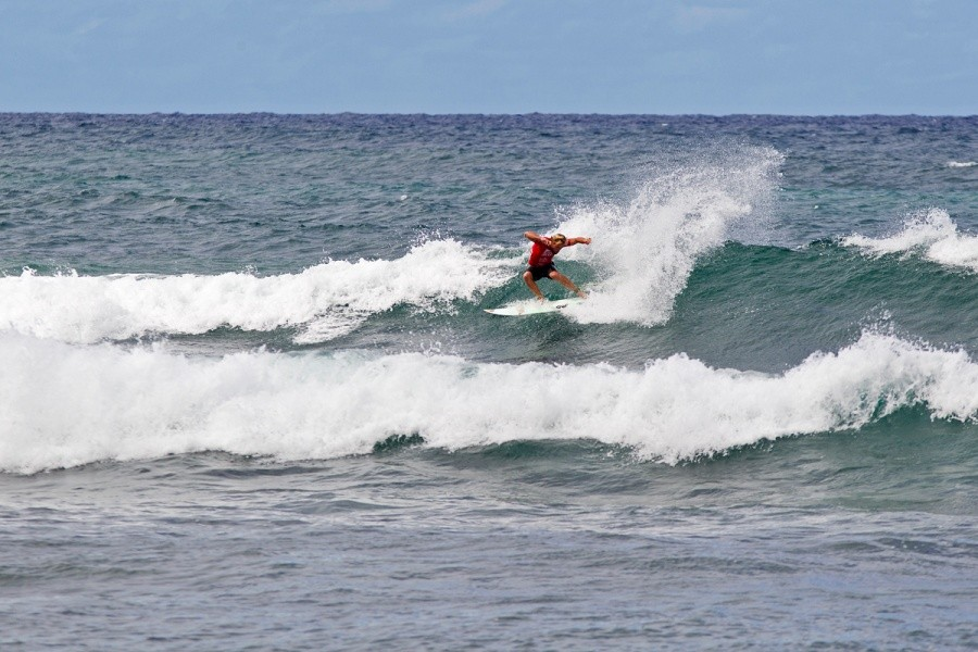 Tanner Gudauskas (USA) was eliminated today.   © ASP / Rowland