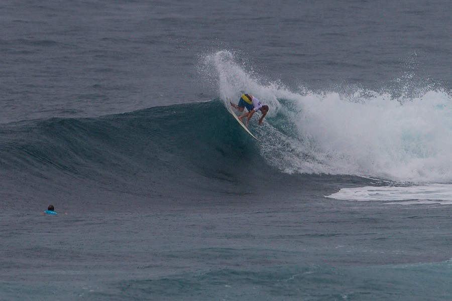 Damien Hobgood advanced in second place.   © ASP / Kirstin