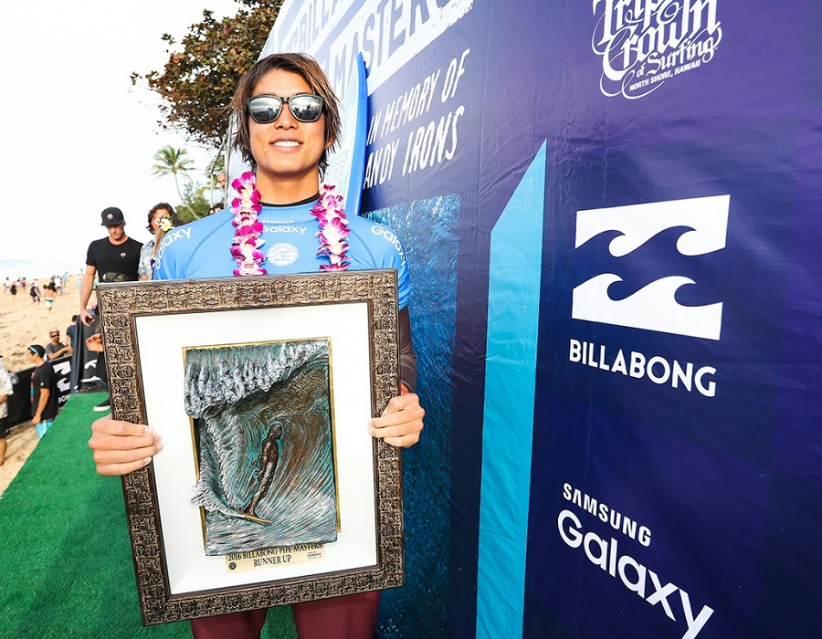 Billabong Pipe Masters Runner up Kanoa Igarashi.   © WSL / Cestari