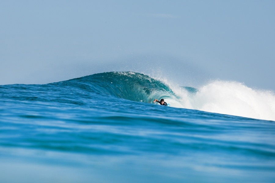 Unfortunately Bruce Irons (HAW) was eliminated in Round 1 after a slow heat.   © ASP / Cestari