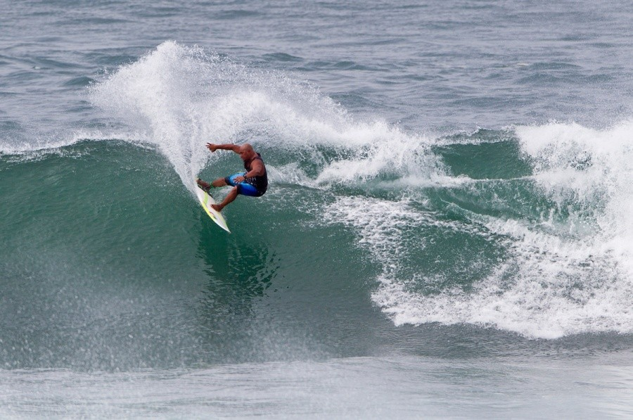 Local Legend Kaipo Jaquais placed second in the Battle of The Legends competition today.   © ASP / Rowland