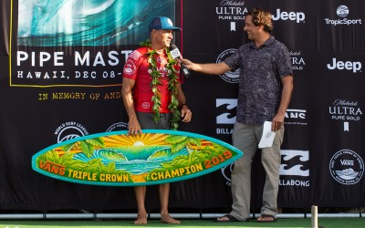 Interview: Kelly Slater Wins The 2019 Vans Triple Crown