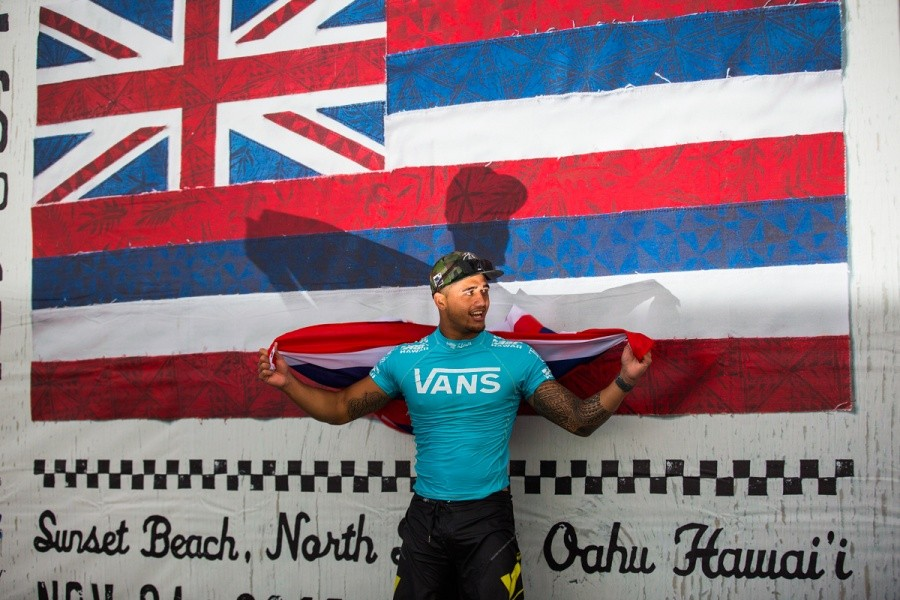 Ezekial Lau 2013 Vans World CUp of Surfing Champion.   © ASP / Kirstin