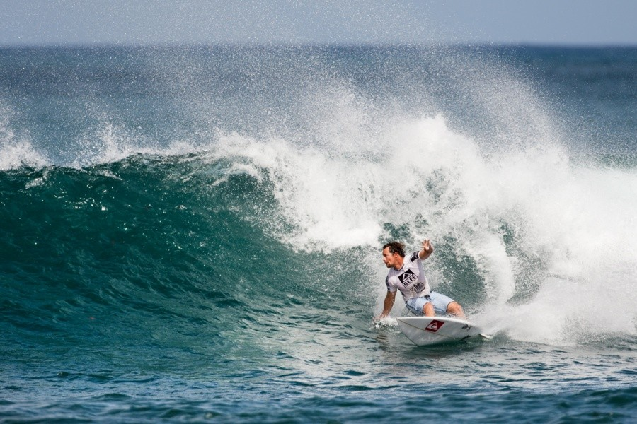 Seeded directly into Round 3 and with a blistering backhand Travis Logie (ZAF) took the heat win.   © ASP / Cestari