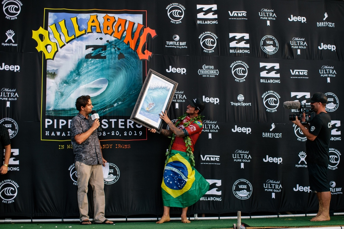 Billabong Pipe Masters runner up Gabriel Medina.   © WSL / Sloane