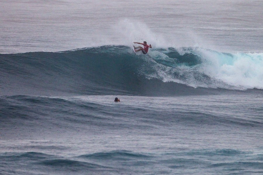 "Frederico ""Kika"" Morais surfed really well.   © ASP / Kirstin"
