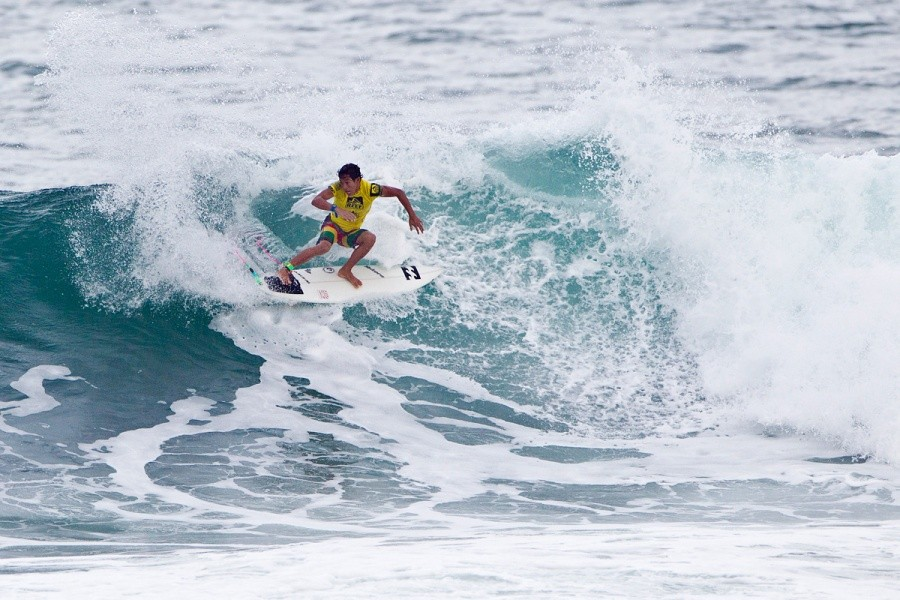 Seth Muniz (HAW) was eliminated in the round of 96 today.   © ASP / Rowland