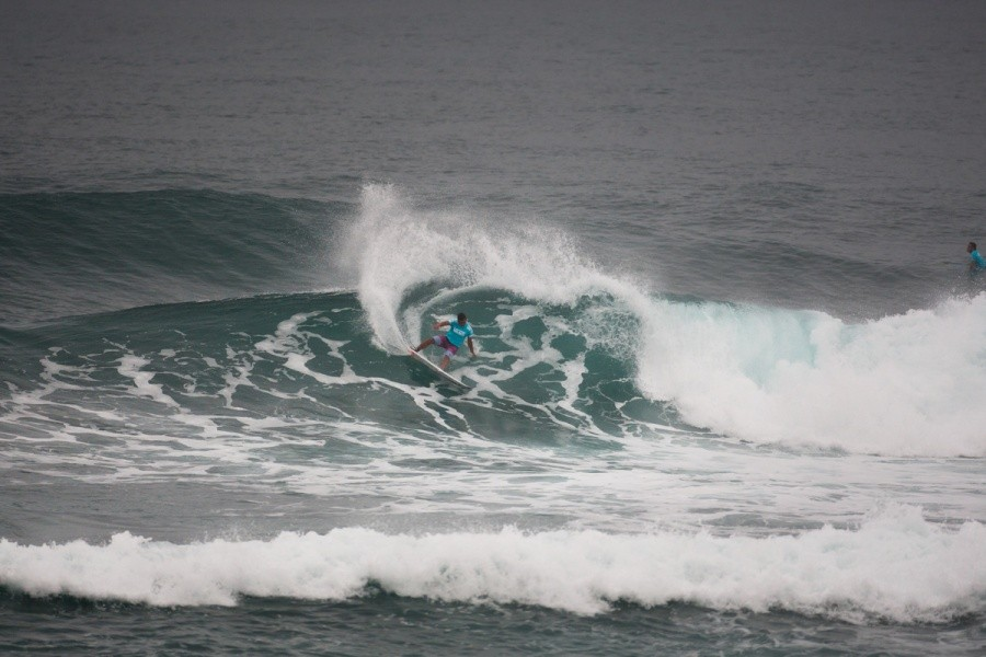 Carlos Munoz (CRI) gets himself into the Quarter Finals.   © ASP / Cestari