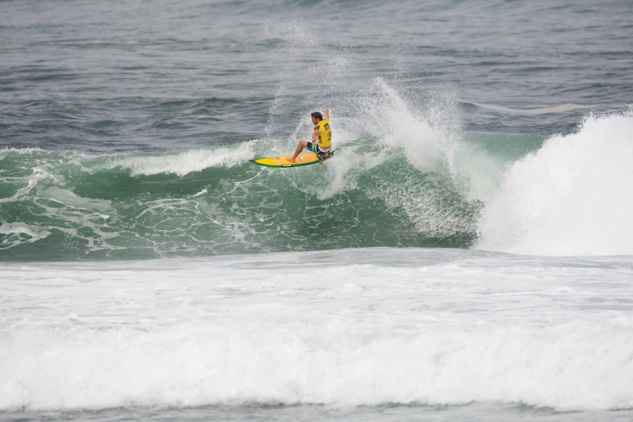 Yadin Nicol (AUS) showed little respect for the toilet bowl section and that earned him a place in Round 3.   © ASP / Cestari