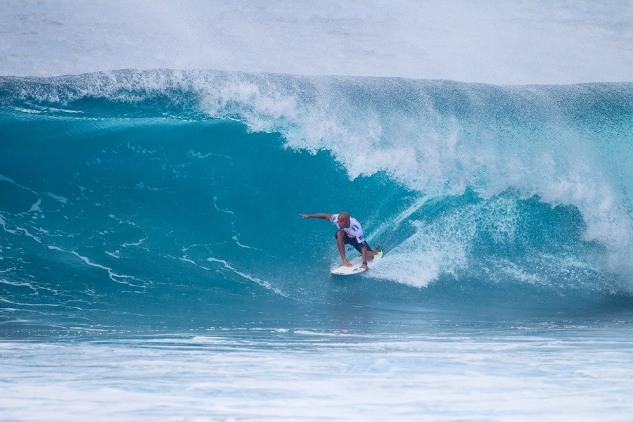 Fred Patacchia Jnr. holding his line for a place in Round 3.   © ASP / Kirstin