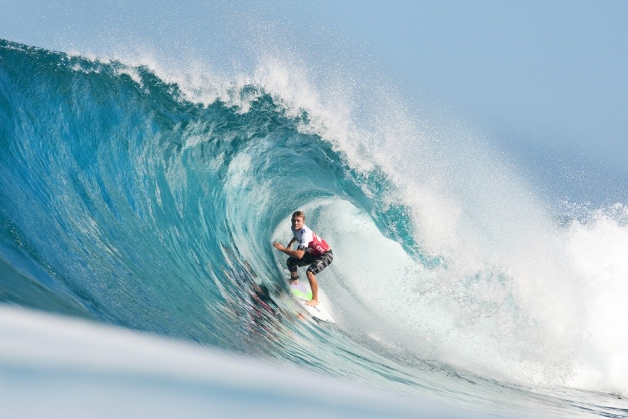 Back from injury Dusty Payne (HAW) was sporting a knee brace in Round 1.   © ASP / Cestari