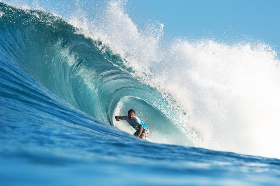 Kierren Perrow (AUS) moments before suffering an injury that saw him withdraw mid heat.   © ASP / Cestari