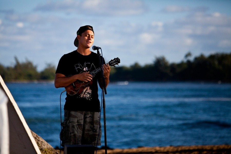 Makua Rothman performed for Hawaii News Now this morning.   © ASP / Rowland