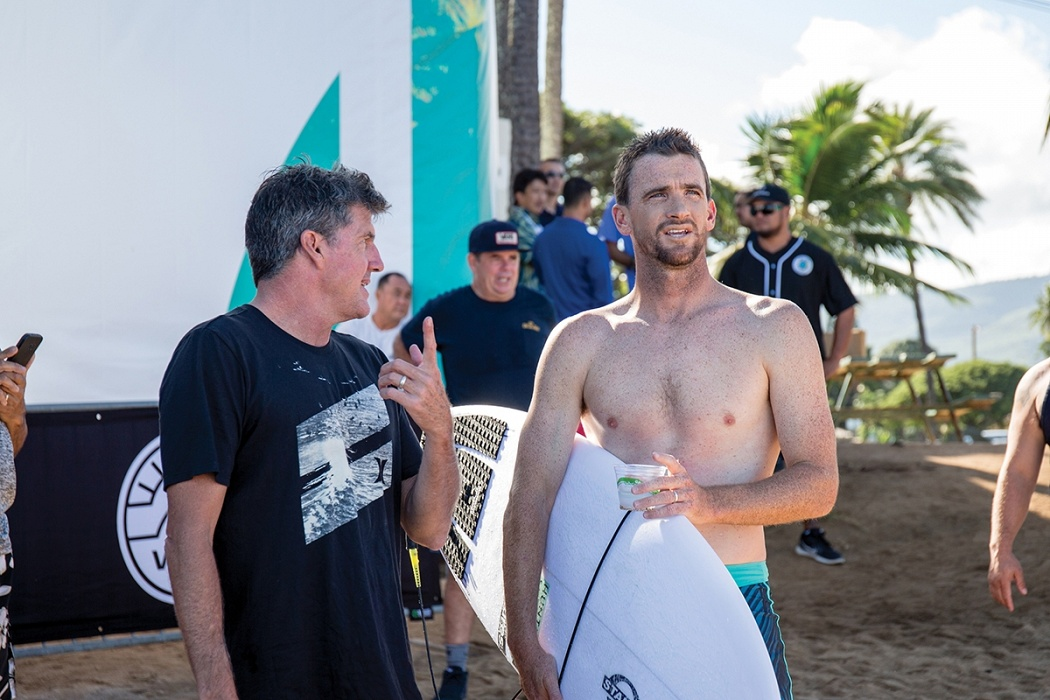 Jon Pyzel and Brett Simpson.   © WSL / Heff
