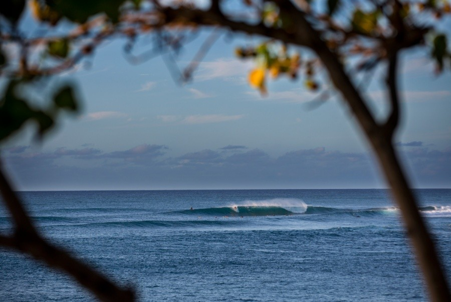 Small, clean conditions at Sunset Beach.   © ASP / Kirstin