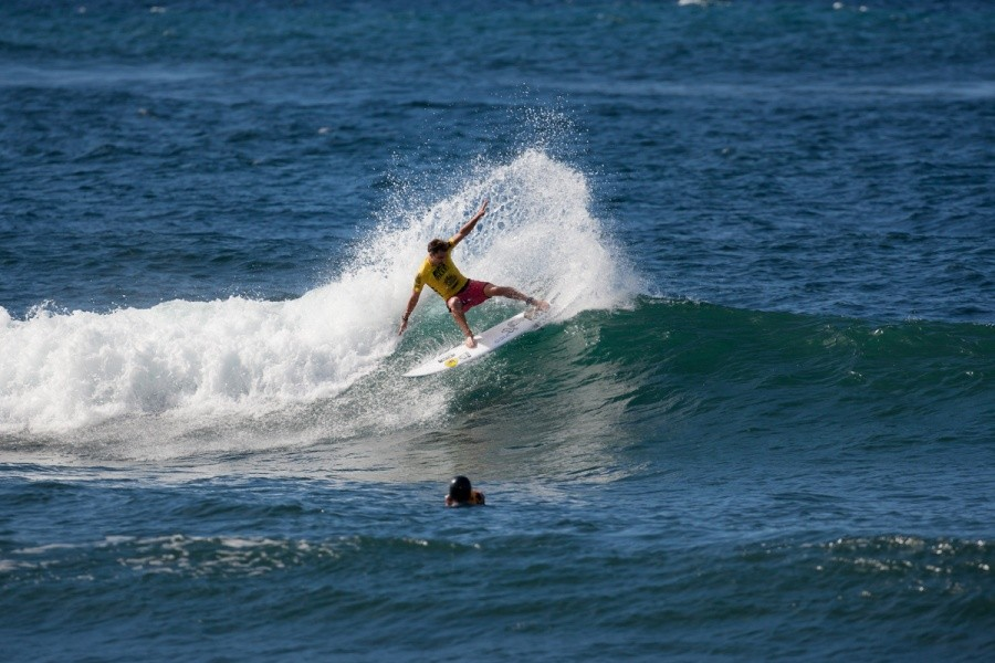 Nate Yeomans (USA) into the quarters.   © ASP / Cestari