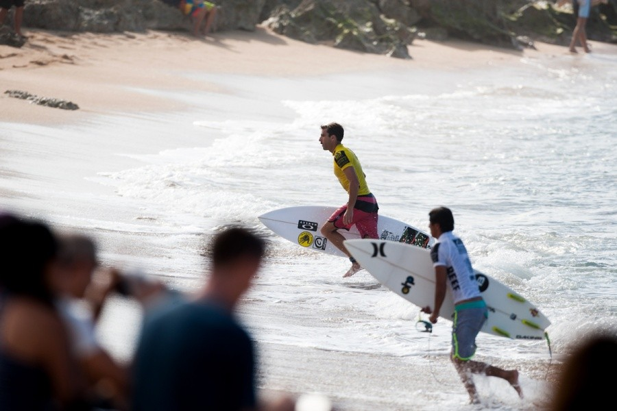 Nate Yeomans (USA) exits the water as a quarterfinalist.   © ASP / Cestari