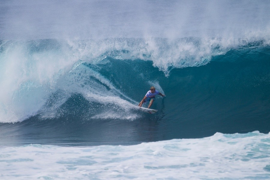 Sebastien Zietz getting his equal share of Pipe as he did Backdoor Barrels.   © ASP / Kirstin